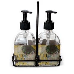 The Kiss - Lovers Soap & Lotion Dispenser Set (Glass)