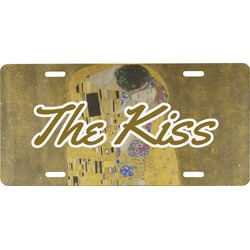 The Kiss (Klimt) - Lovers Front License Plate