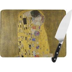 The Kiss (Klimt) - Lovers Rectangular Glass Cutting Board