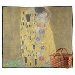 The Kiss (Klimt) - Lovers Outdoor Picnic Blanket