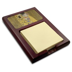 The Kiss (Klimt) - Lovers Red Mahogany Sticky Note Holder