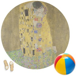 The Kiss (Klimt) - Lovers Round Beach Towel