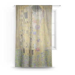 The Kiss (Klimt) - Lovers Sheer Curtains
