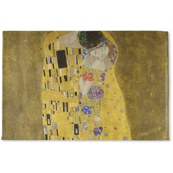 The Kiss (Klimt) - Lovers Woven Mat