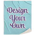 Design Your Own Sherpa Throw Blanket (Personalized)