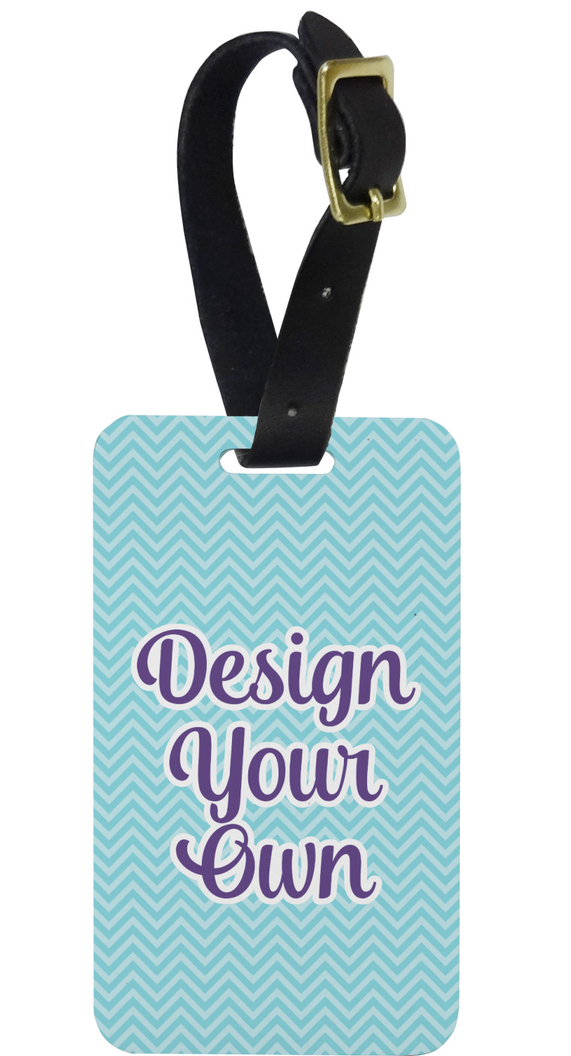 design your own aluminum luggage tag personalized
