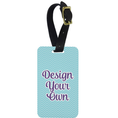 Design Your Own Personalized Aluminum Luggage Tag