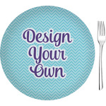 "Design Your Own 8"" Glass Appetizer / Dessert Plates - Single or Set (Personalized)"