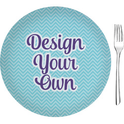 """Design Your Own Glass Appetizer / Dessert Plate 8"""" (Personalized)"""