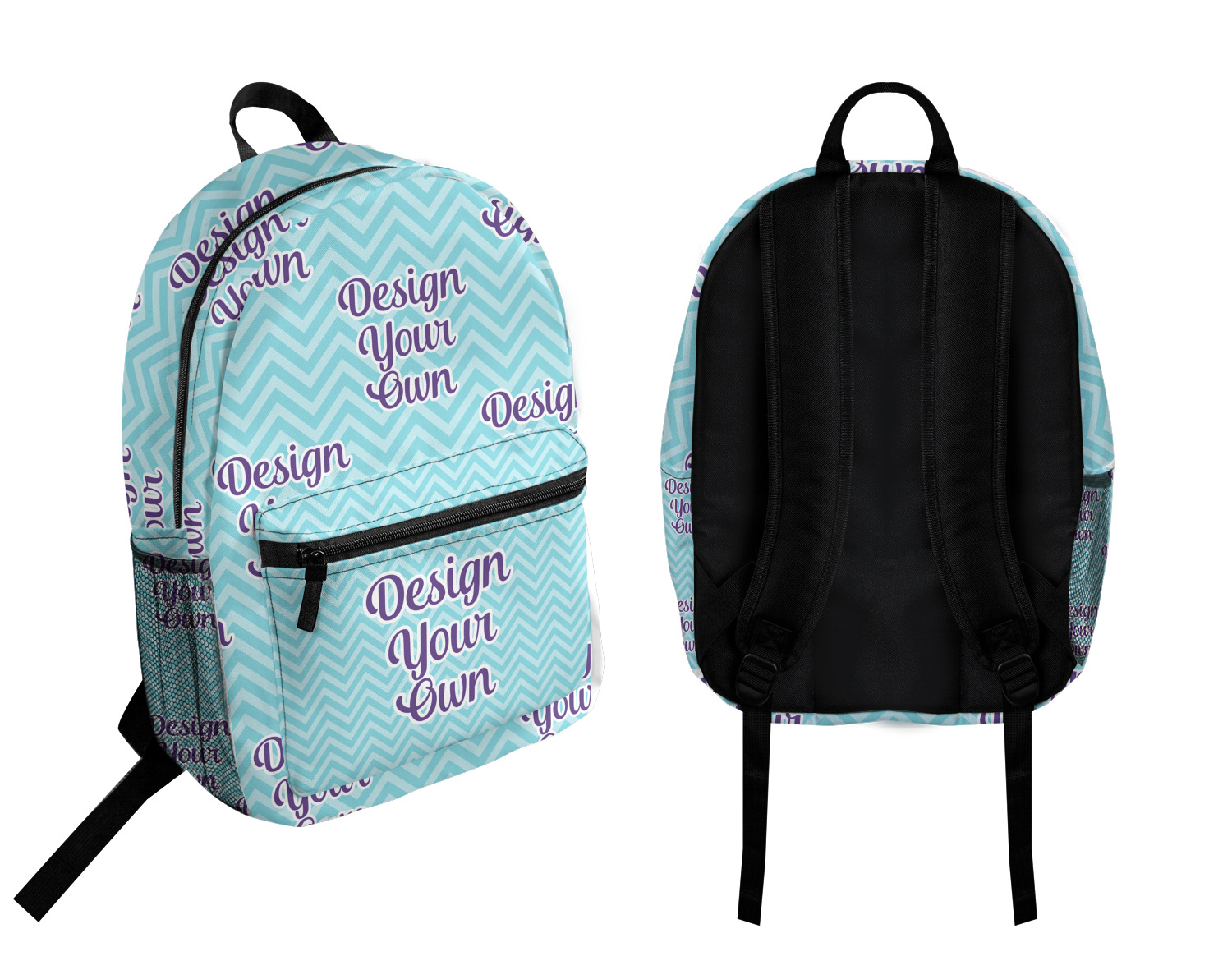 Zhenzhan Personality Computer Backpacks For Middle School Student Watercolor Drawing Dog Printed Work Backpacks