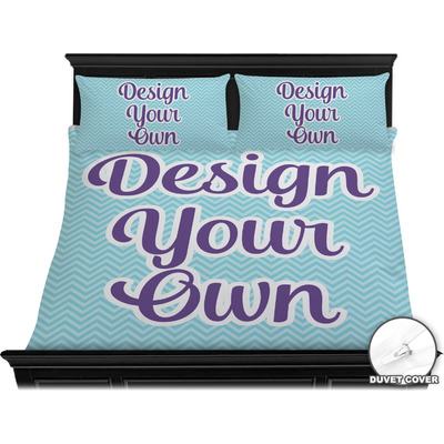 Design Your Own Personalized Duvet Cover Set - King