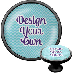 Design Your Own Cabinet Knob (Black) (Personalized)