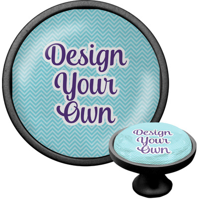 Design Your Own Personalized Cabinet Knob (Black)