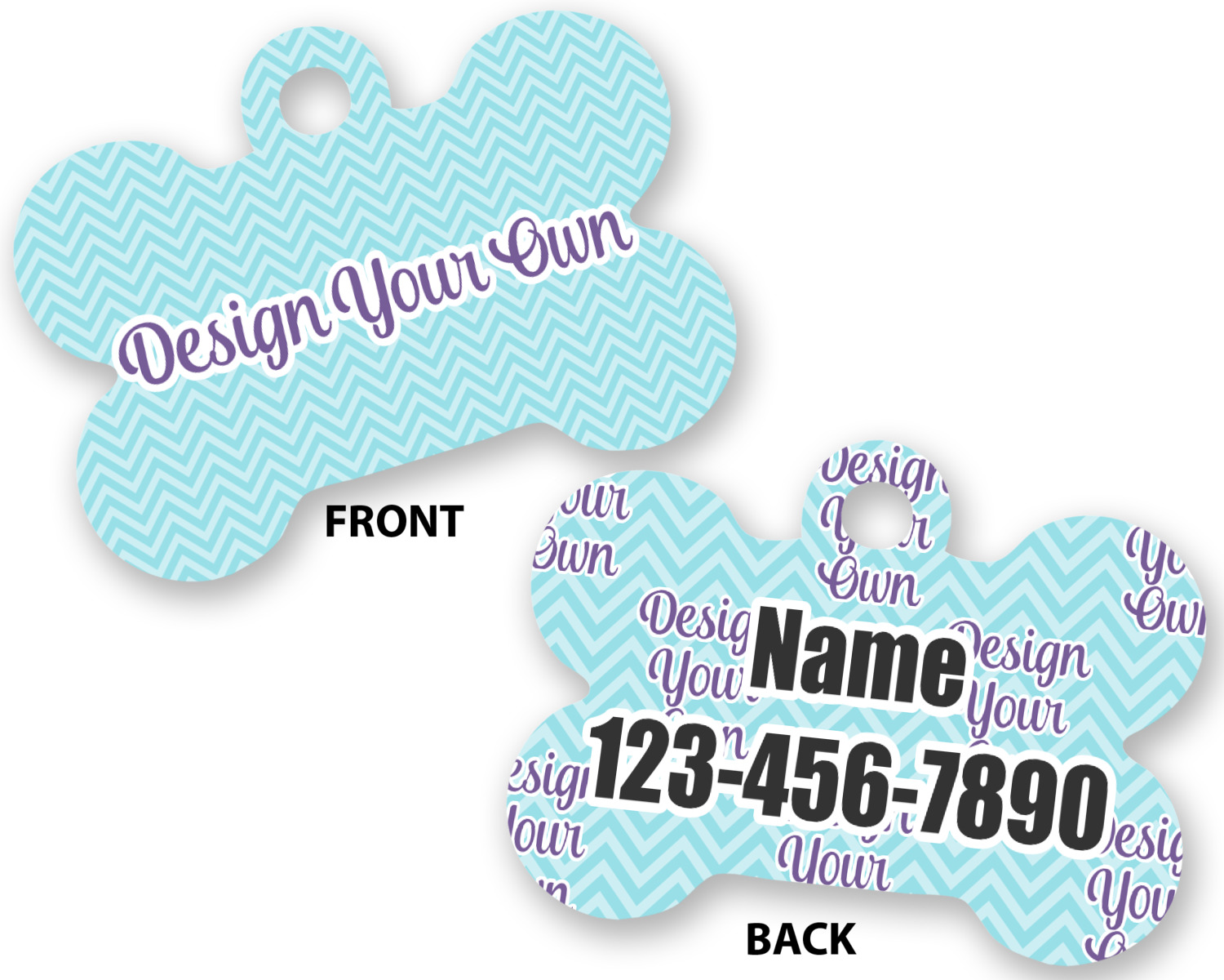 0a7578e40873 Design Your Own Bone Shaped Dog Tag (Personalized) - YouCustomizeIt