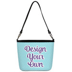 Design Your Own Bucket Bag w/ Genuine Leather Trim (Personalized)
