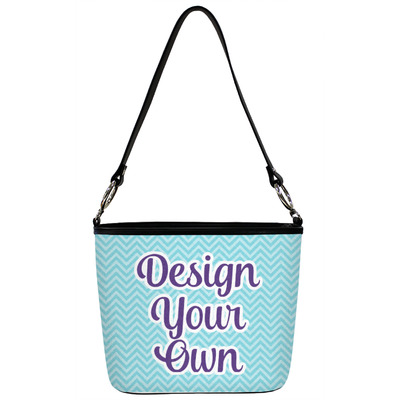 Design Your Own Personalized Bucket Bag w/ Genuine Leather Trim
