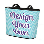 Design Your Own Bucket Tote w/ Genuine Leather Trim (Personalized)