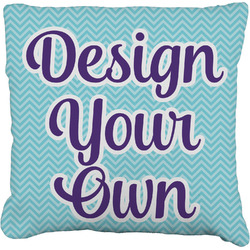 """Design Your Own Faux-Linen Throw Pillow 16"""" (Personalized)"""
