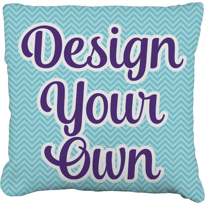 """Design Your Own Personalized Faux-Linen Throw Pillow 16"""""""