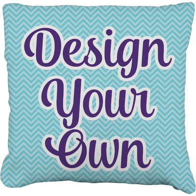 """Design Your Own Personalized Faux-Linen Throw Pillow 26"""""""