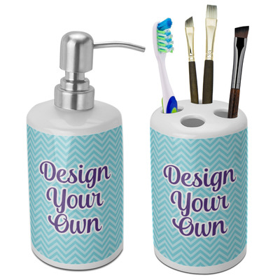 Design Your Own Personalized Bathroom Accessories Set (Ceramic)