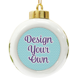Design Your Own Ceramic Ball Ornament (Personalized)