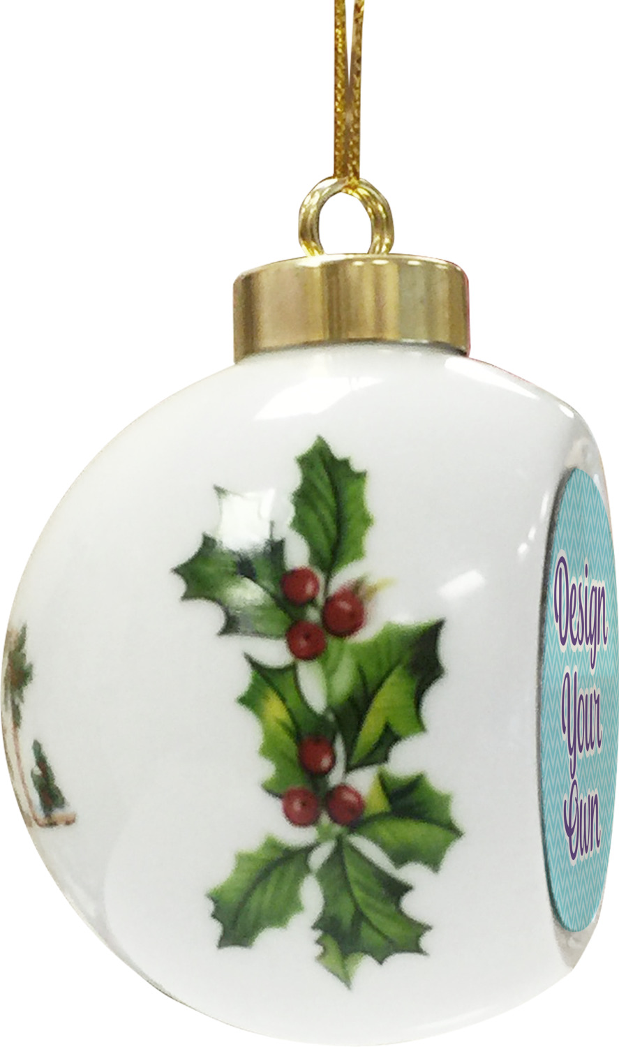 Design Your Own Personalized Ceramic Ball Ornament ...
