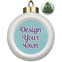 Design Your Own Ceramic Ball Ornament - Christmas Tree