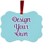 Design Your Own Metal Frame Ornament - Double Sided
