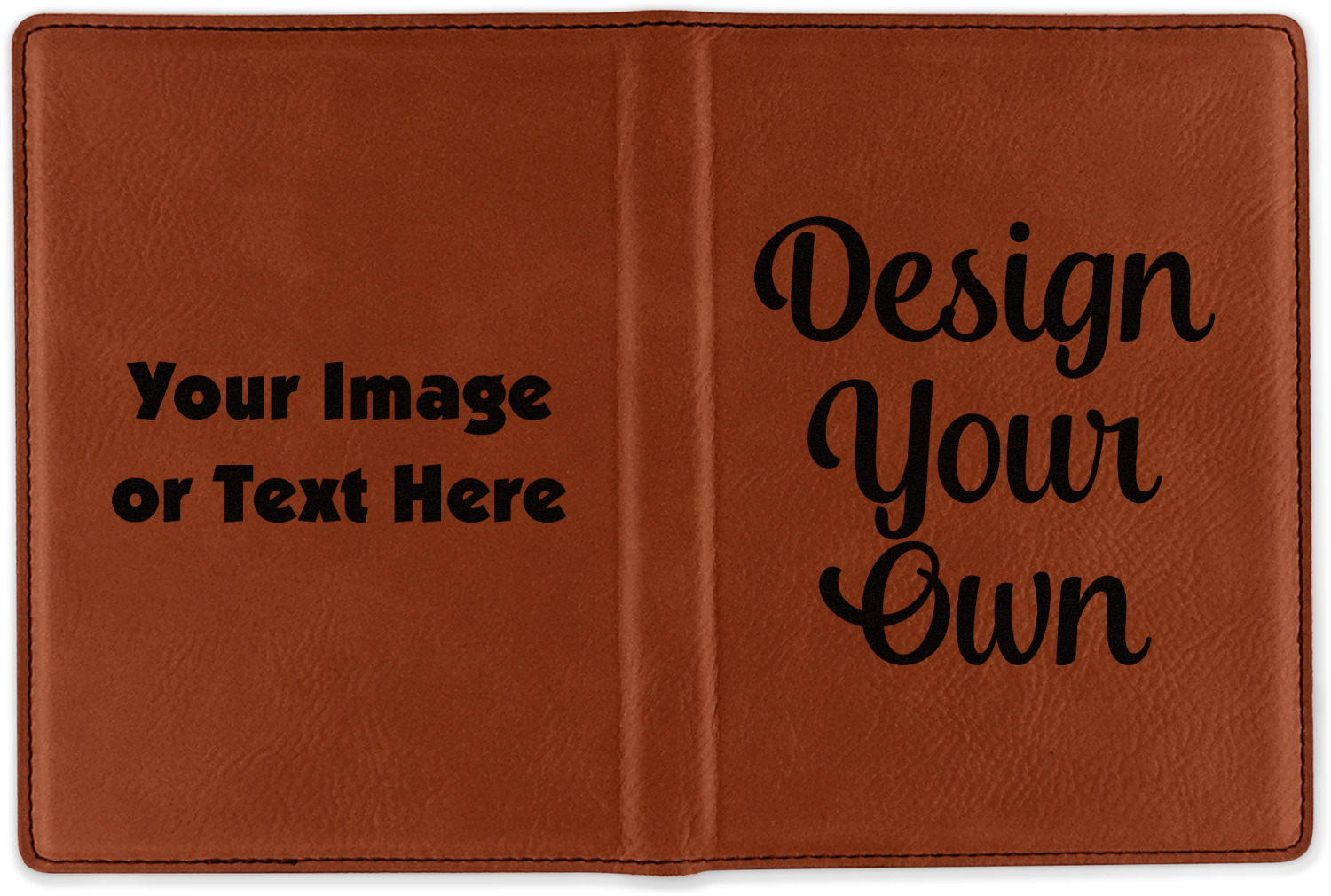 Design Your Own Leatherette Passport Holder Personalized
