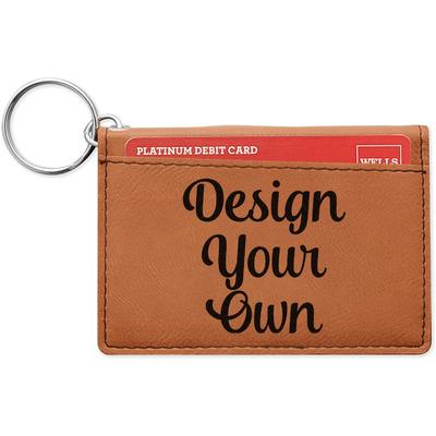 Design Your Own Personalized Leatherette Keychain ID Holder