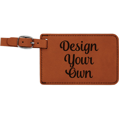 Design Your Own Personalized Leatherette Luggage Tag