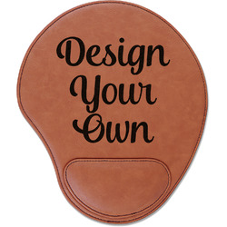 Design Your Own Leatherette Mouse Pad with Wrist Support (Personalized)