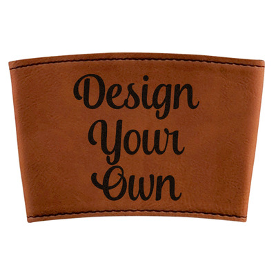 Design Your Own Personalized Leatherette Mug Sleeve