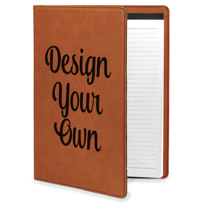 Design Your Own Personalized Leatherette Portfolio with Notepad