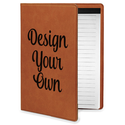 Design Your Own Personalized Leatherette Portfolio with Notepad - Small - Single Sided