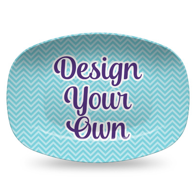 Design Your Own Personalized Plastic Platter - Microwave & Oven Safe Composite Polymer