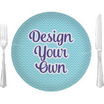 "Design Your Own Glass Lunch / Dinner Plates 10"" (Personalized)"