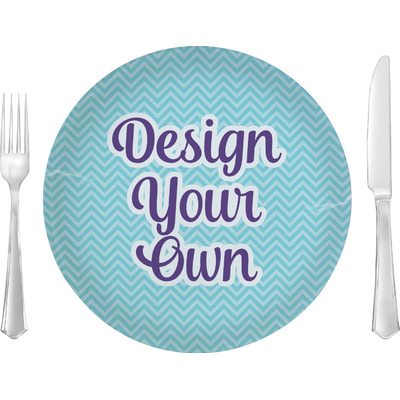 "Design Your Own Personalized 10"" Glass Lunch / Dinner Plates - Single or Set"