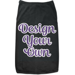 Design Your Own Black Pet Shirt (Personalized)