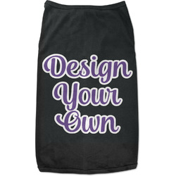 Design Your Own Black Pet Shirt - Multiple Sizes (Personalized)
