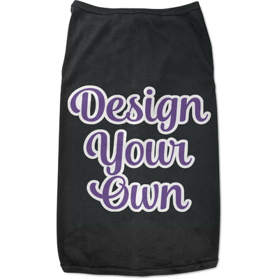Design Your Own Personalized Black Pet Shirt - 2XL
