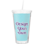 Design Your Own Double Wall Tumbler with Straw (Personalized)
