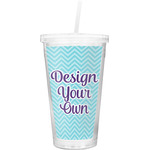 Design Your Own Double Wall Tumbler with Straw