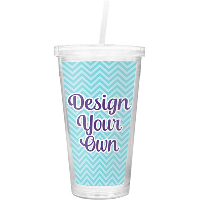 Design Your Own Personalized Double Wall Tumbler with Straw