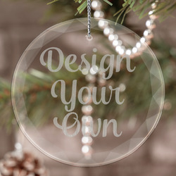 Design Your Own Engraved Glass Ornament