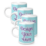 Design Your Own Espresso Mugs - Set of 4 (Personalized)