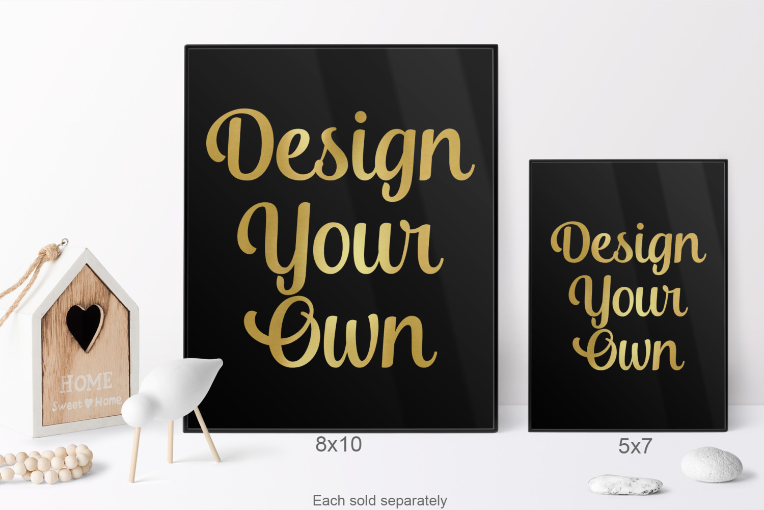 Design Your Own 8x10 Foil Wall Art Black Personalized