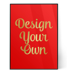 Design Your Own 5x7 Red Foil Print (Personalized)