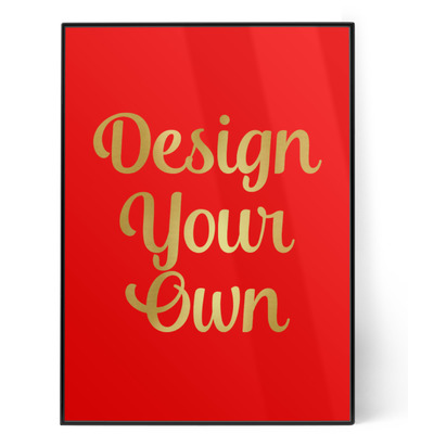 Design Your Own Personalized 5x7 Red Foil Print